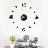 Walplus DIY Wandklok Acryl Koffie Zwart - 43 cm