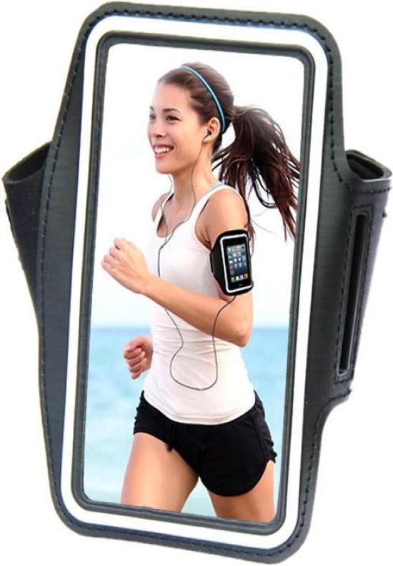 Comfortabele Smartphone Sport Armband voor uw Asus Pegasus 2 Plus, zwart , merk i12Cover