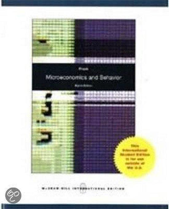 Boek cover Microeconomics and Behavior van Robert Frank (Paperback)