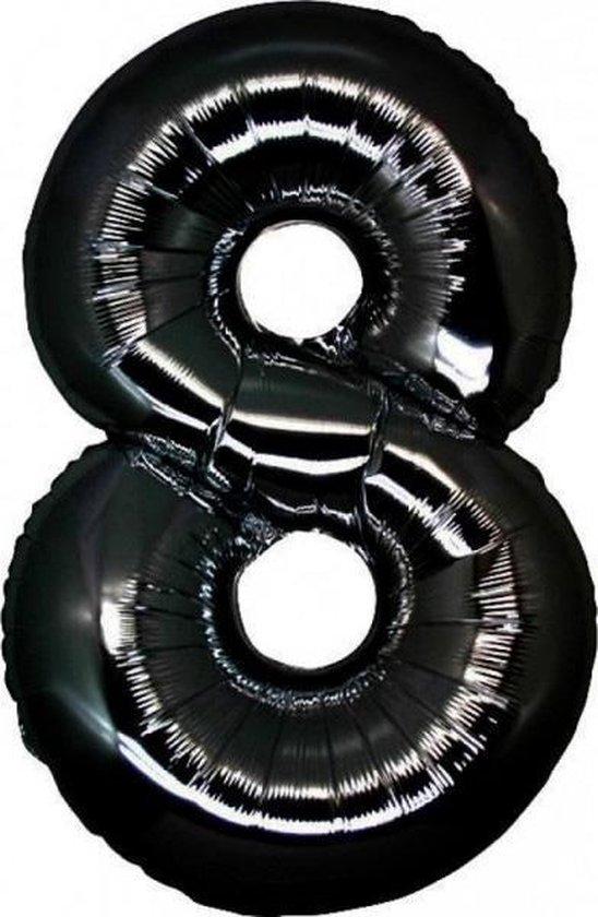 Folie MAXI Cijfer 8 Zwart 40