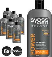 SYOSS Men Power & Strength Shampoo - 6 stuks - Voordeelverpakking