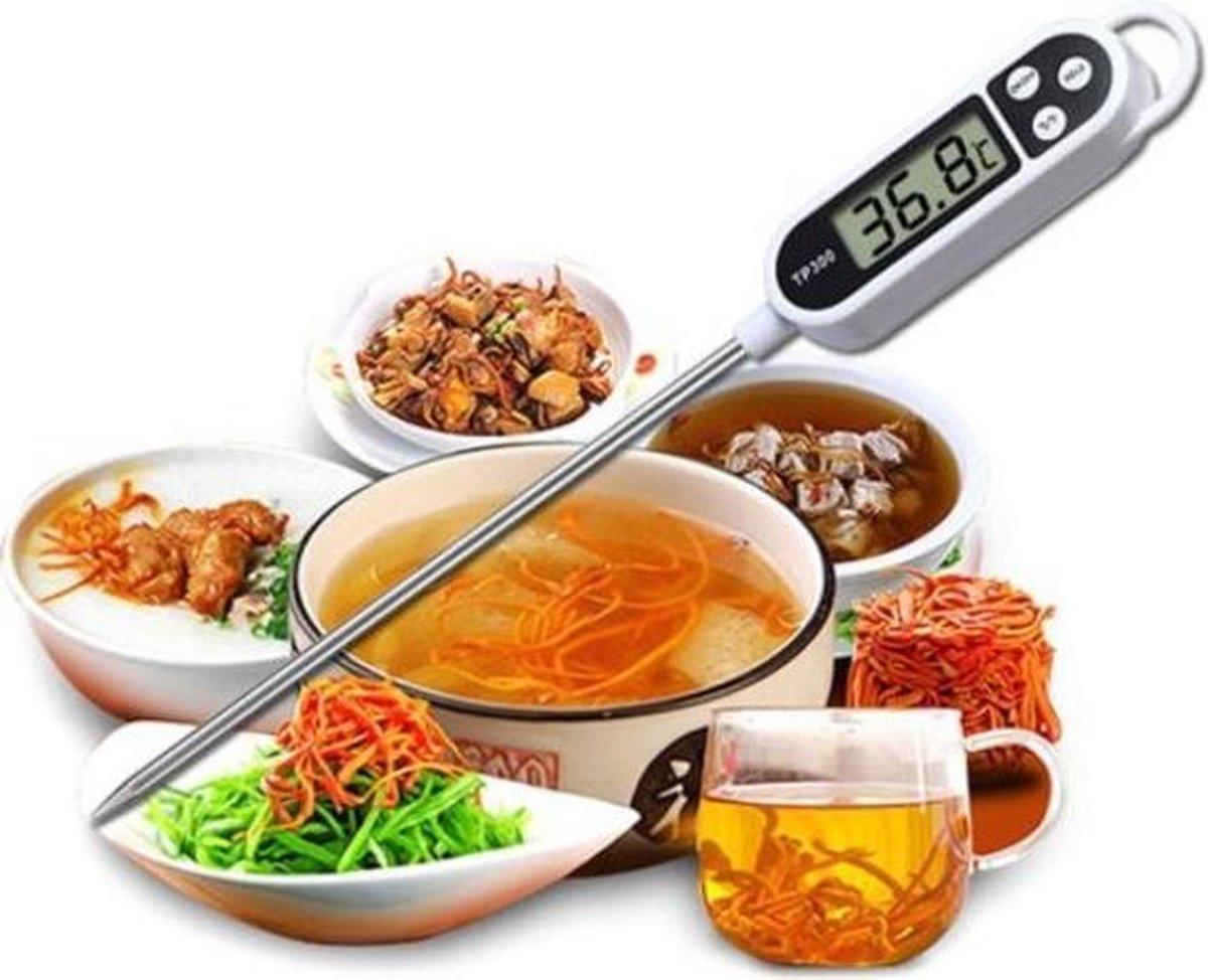 Multifunctionele Digitale Voedselthermometer - Keukenthermometer - BBQ Thermometer - Vleesthermometer - Vloeistofthermometer- Kern Thermometer - Vlees Vis Voedsel - Inclusief batterij