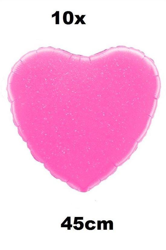 10x Folie ballon Hart 45 cm roze