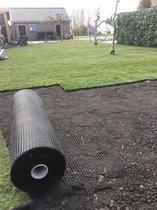 250 M² mollengaas 60 g/m² + 125 gronddoekpennen - mollennetten - mollennet