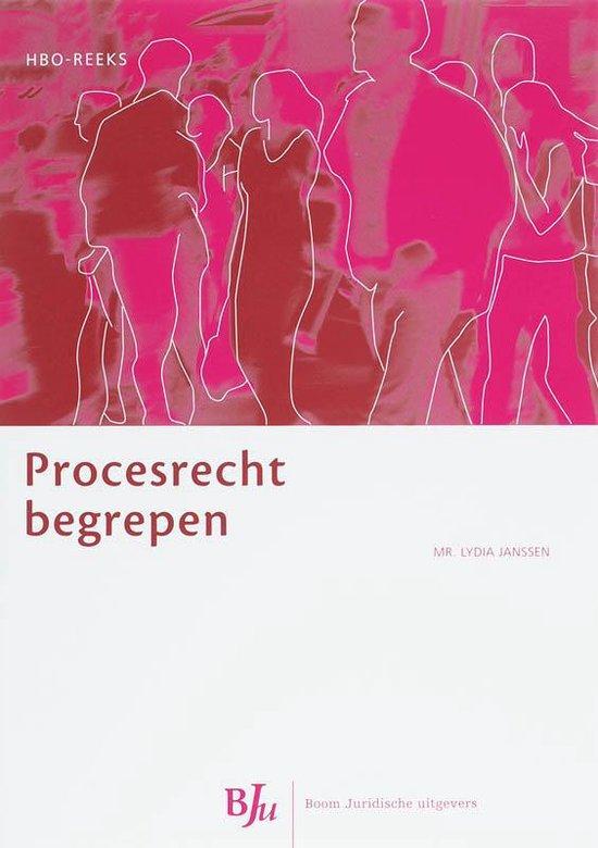 Procesrecht begrepen - Lydia Janssen |