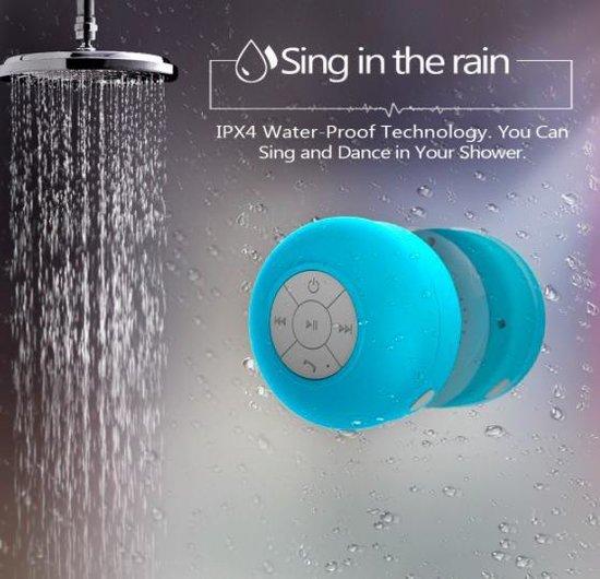 Bol Com Waterdichte Bluetooth Speaker Met Zuignap Waterproof Badkamer Douche Speaker Blauw