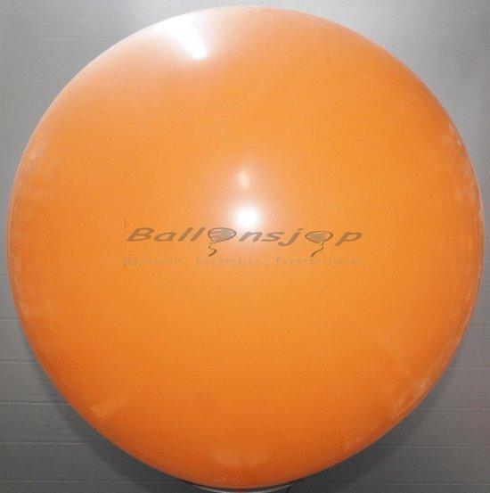 reuze ballon 60 cm  24 inch oranje
