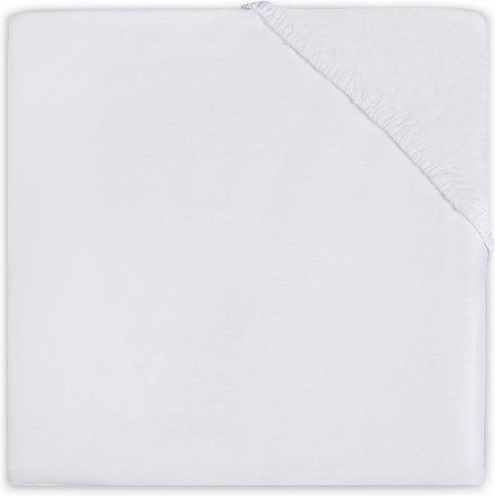 Little Lemonade Hoeslaken jersey 75x150cm white
