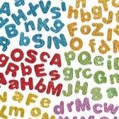 Zelfklevende foam letters met glitter - stickers voor kinderen en volwassen voor scrapbooking wenskarten knutselwerkjes en decoratie maken (850 stuks)