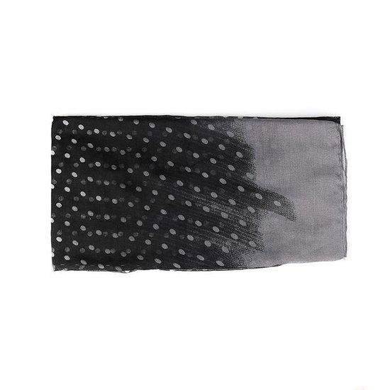 Sjaal met Stippen - Dots - Polyester - 85x180 cm - Zwart - Dielay - Dielay