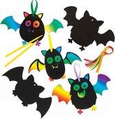 Kraskunstdecoraties vleermuizen (10 stuks per verpakking) Voor kinderen om knutselwerkjes voor Halloween te maken en te versieren