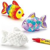 Vissen van polystyreen - piepschuim vormen - basis knutselmateriaal voor kinderen en volwassen om te schilderen en versieren (6 stuks)