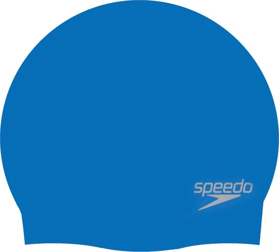 Speedo Moulded Silicone Cap Badmuts Unisex - Blue - Maat One Size