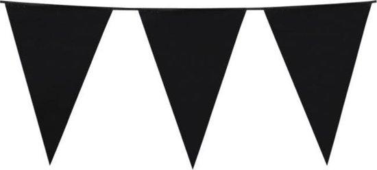 Vlaggen slinger met zwarte vlaggen (30x45 cm) leuk voor helloween