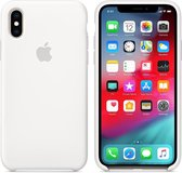 Apple Silicone Backcover iPhone X hoesje - White