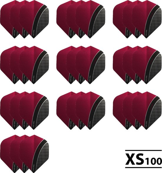 10 - Sets XS100 Curve 100 micron flights - Rood