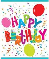 feestzakjes Happy Birthday Balloons 8 stuks