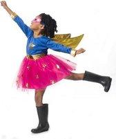 Imaginarium Superheld Meisje - Verkleedkleding Superhero - 3-Delige Set Superheldin - Maat 116-122