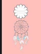 Boho Style Dream Catcher College Composition Book