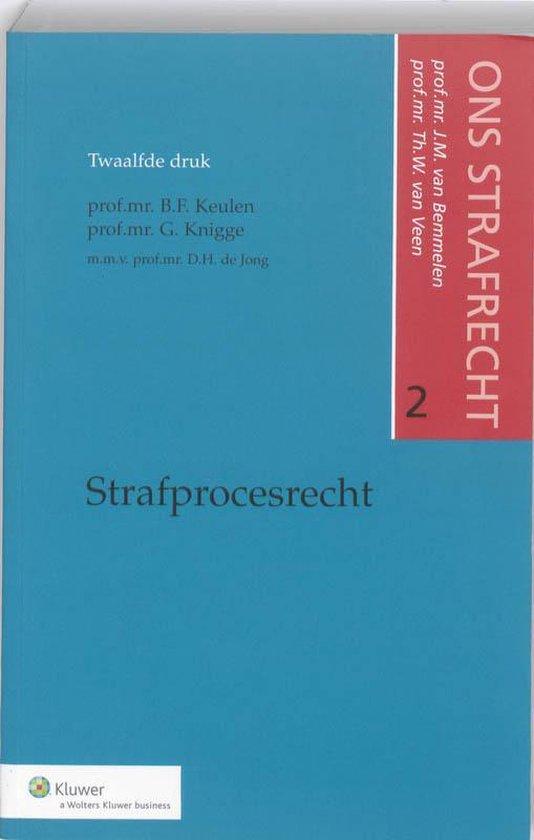 Boek cover Strafprocesrecht ons strafrecht van J.M. van Bemmelen (Paperback)