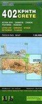 402 Wandelkaart Kreta: Lefka Ori-Samaria-Sfakia-Rethimno-Plakias 1:50.000 West-Kreta - Road Editions 402
