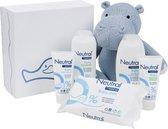 Neutral Geschenkset 6-delig - Bodycrème. Zinkzalf. Bad- en Wasgel. Billendoekjes. Shampoo en Jollein Nijlpaard Knuffel