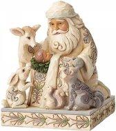 Jim Shore: Wonder in het maanlicht (Witte bos Kerstman  met Baby Jezus Beelden & Figuren