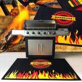 BBQ mat voor onder barbecue - Vlam - 100x120 cm