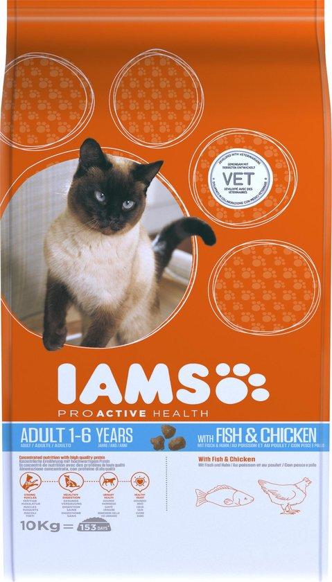 Iams Cat Adult - Vlees & Kip - 10 kg