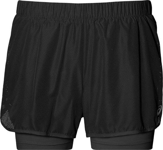 Asics 2-in-1 3,5 inch Runningshort  Sportbroek - Maat XS  - Vrouwen - zwart