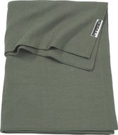 Meyco Knit basic ledikantdeken - 100x150 cm - Forest green