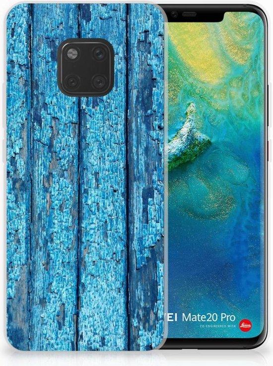 Huawei Mate 20 Pro Uniek TPU Hoesje Wood Blue