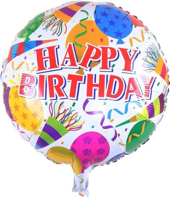 Folieballon Happy birthday feest 45 cm