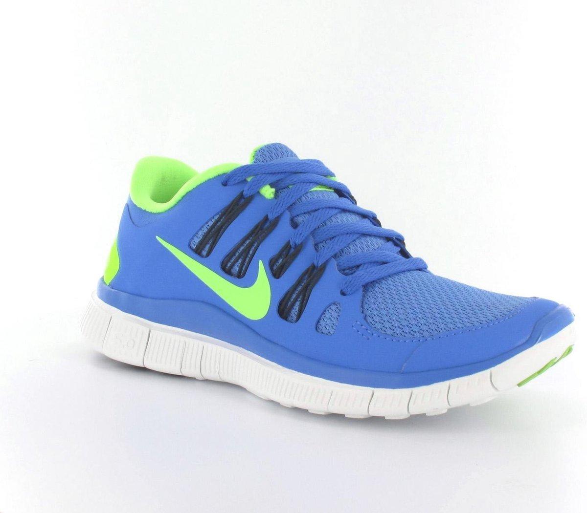 Nike Free 5.0+ Hardloopschoenen Dames Maat 36 Blauw;Fluor Geel