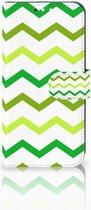 Huawei Mate 10 Lite Uniek Boekhoesje Zigzag Groen