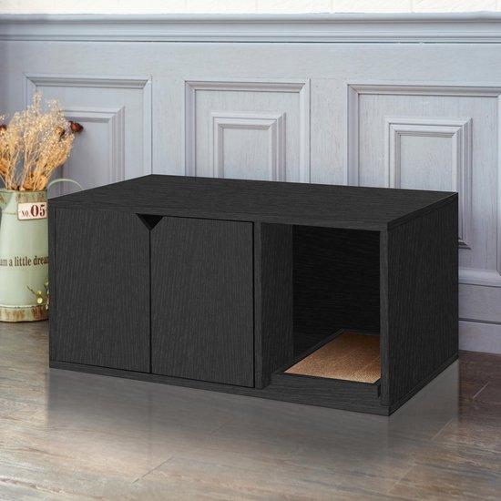 Way Basics Duurzame Kattenbak - Zwart - Way Basics