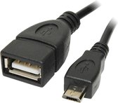 OTG Adapter - Micro USB B/M to USB A/F cable 0,10m