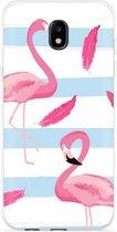 Samsung Galaxy J7 (2017) Hoesje Flamingo Feathers
