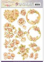 Uitdrukvel  - Jeanine's Art - Vintage Bloemen - Romantisch Vintage