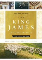 KJV, The King James Study Bible, Cloth over Board, Red Letter, Full-Color Edition