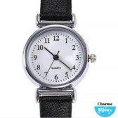 Bol.com-Horloge voor de smalle pols- Jol- Zwart lederbandje- 26 mm-aanbieding