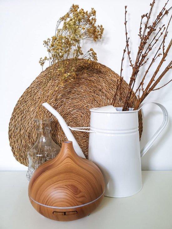 Aroma Diffuser Arizona© in hout voor aromatherapie | Etherische olie vernevelaar en luchtbevochtiger 500ml (!) voor grote ruimtes| Dé geurverspreider origineel van