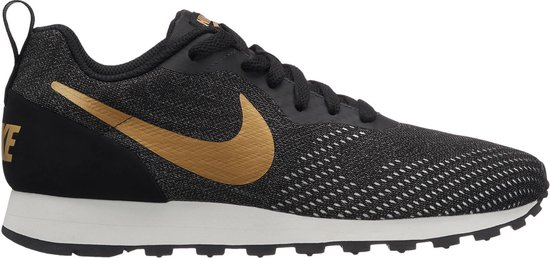Nike Md Runner 2 Eng Mesh Sneakers Dames BlackMtlc Gold Dk Grey Phanto Maat 36.5