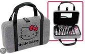 Hello Kitty - Beautycase - Grijs/Rood