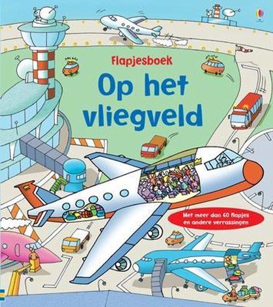 Flapjesboek op het vliegveld flapjesboek