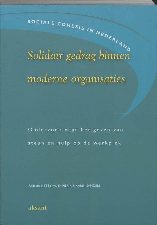 Solidair gedrag binnen moderne organisaties - H. van Emmerik |