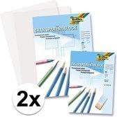 50 vellen A4 overtrekpapier / transparant tekenpapier - 80 grams