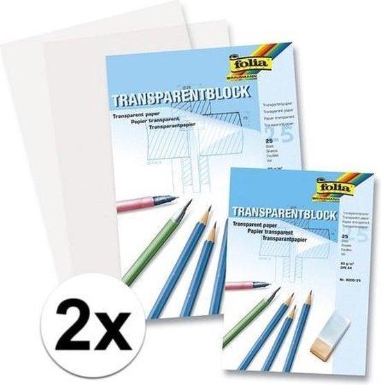 Afbeelding van 50 vellen A4 overtrekpapier / transparant tekenpapier - 80 grams speelgoed