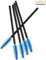 NBH - 5 Wegwerp Make-up Mascara Borsteltjes - blauw