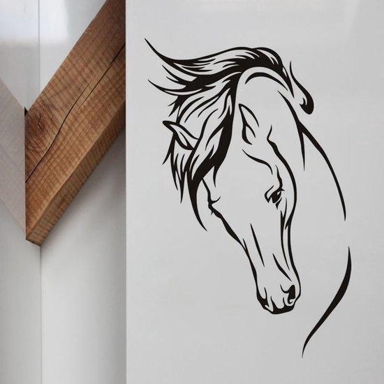 Muursticker Paard - Paarden Sticker Voor Woonkamer / Slaapkamer / Kinderkamer Meisjes